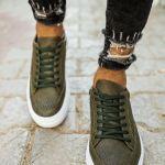 Men's Lace-up Khaki Shoes
