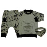 Baby Boy's Kerchief Accessory Camo Pattern Outfit Set