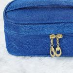 Women's Glitter Blue Makeup Bag