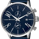 Men's Metal Case Navy Blue Straw Metal Watch