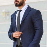 Men's Navy Blue Blazer Jacket