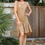 Women's Frill Mink Dress