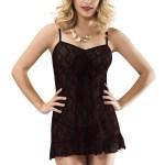 Women's Spaghetti Strap Black Nightgown
