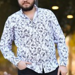 Black Patterned White Shirt