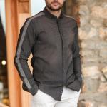 Men's Patterned Black Shirt