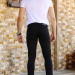 Men's Pocketed Black Pants