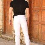 Men's Basic White Pants