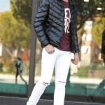 Men's Ripped White Pants