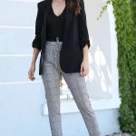 Patterned Grey Classic Pants