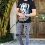 Men's Ripped Grey Jeans