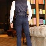 Men's Dark Navy Blue Pants