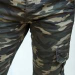 Men's Elastic Ankle Camo Pattern Cargo Pants