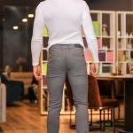 Men's Honeycomb Pattern Anthracite Pants