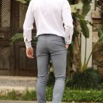 Men's Honeycomb Pattern Navy Blue Pants