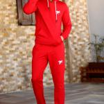 Men's Hooded Red Sweat Suit