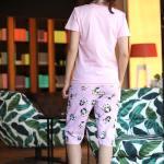 Women's Patterned Pink Pajama Set