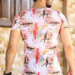 Men's Short Sleeves Patterned T-shirt