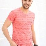 Men's Short Sleeves Patterned T-shirt