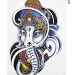 Elephant Model Temporary Tattoo