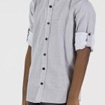 Boy's Dotted White Shirt
