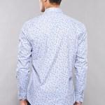 Men's Long Sleeves Patterned Light Blue Shirt