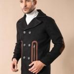 Men's Wrap Black Cachet Coat
