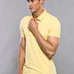 Men's Plain Yellow Polo T-shirt