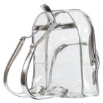 Women's Silver Transparent Backpack