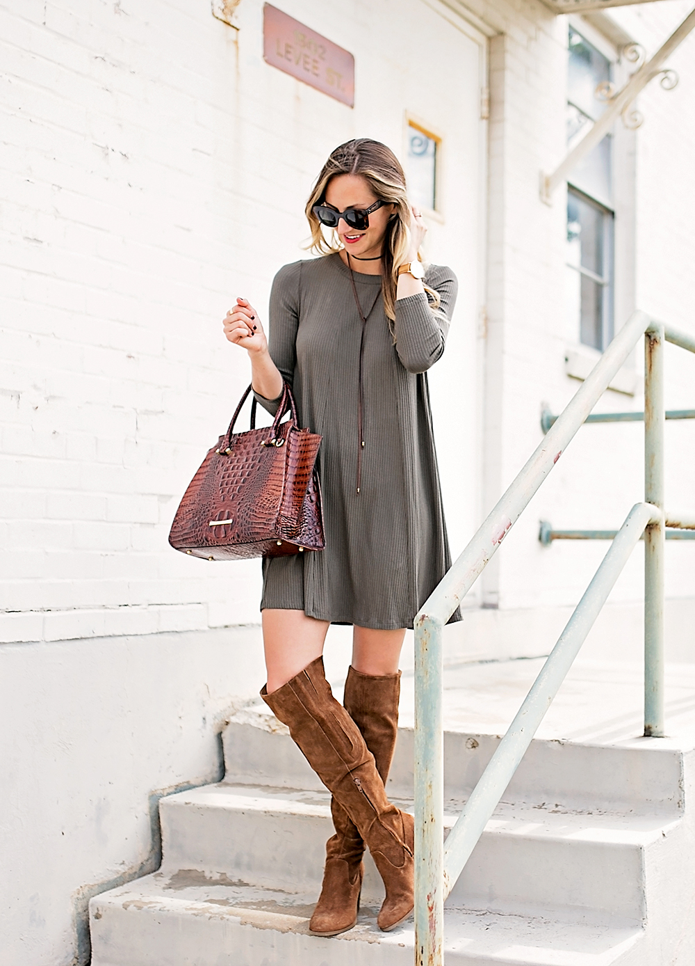 Above Knee Boots Dress