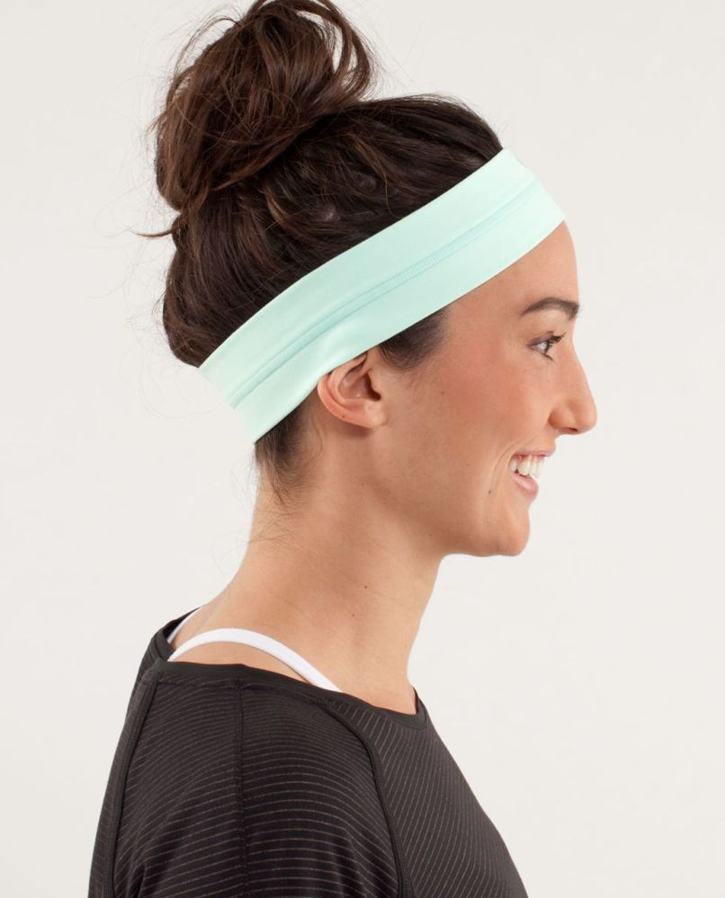 f4d42a466d Lululemon Fly Away Tamer Headband Mint Moment Lulu Fanatics