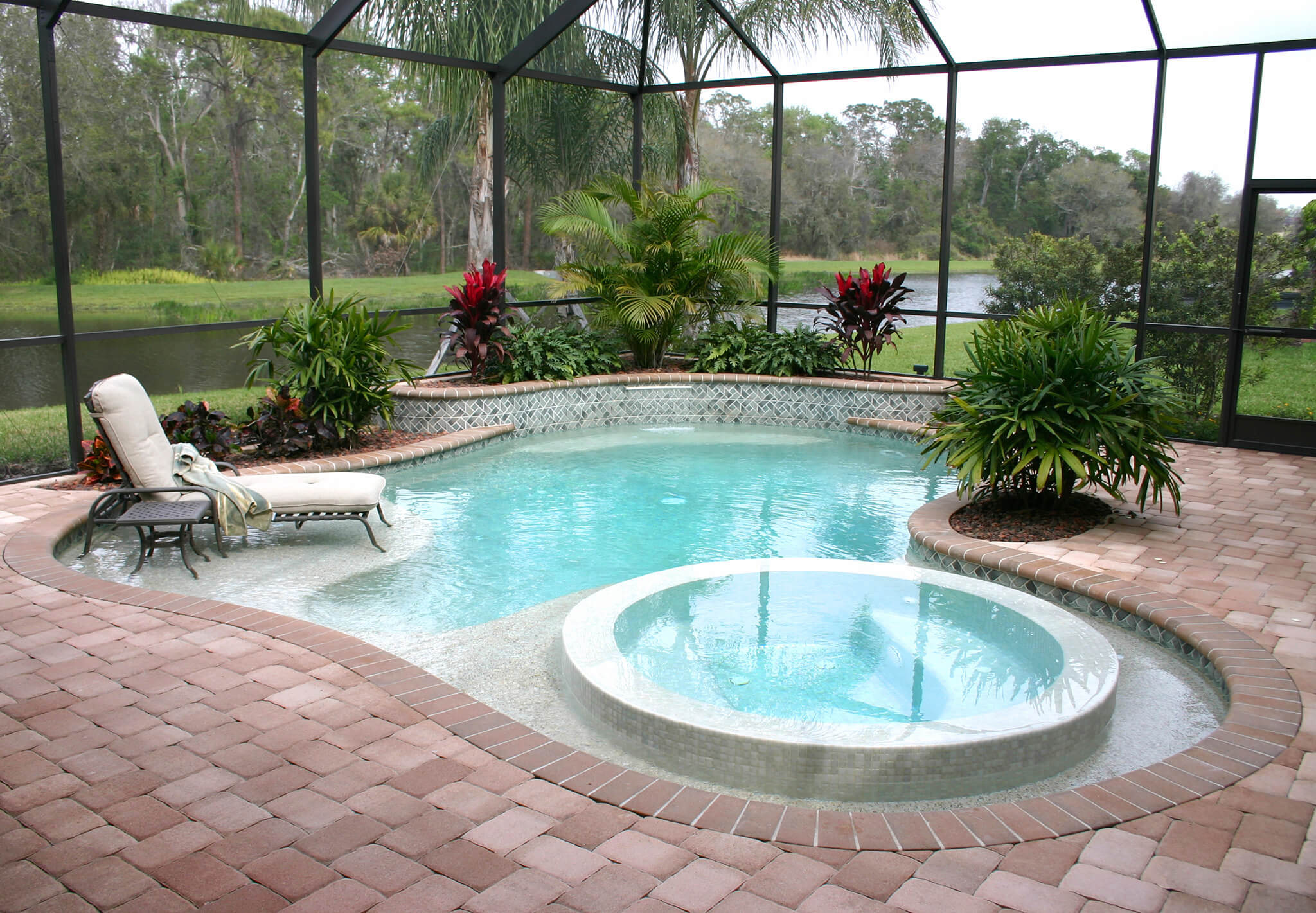 Paver Pool Deck Design & Installation in Bluffton & Hilton ... on Pool Deck Patio Ideas  id=96685