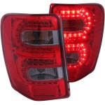 Fits 99 04 Jeep Grand Cherokee Tail Lights Left Right Pair W Red Smoke Lens Ebay