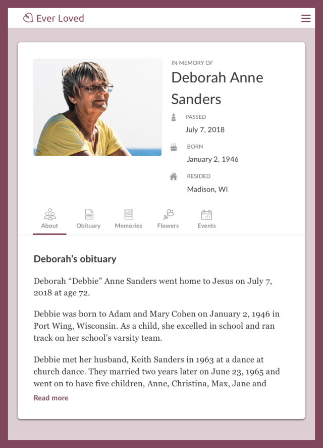 Top Free Obituary Templates  Ever Loved