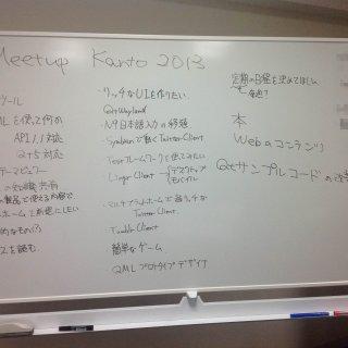 今後の Qt 勉強会で何をしたいかの話し合いをしました