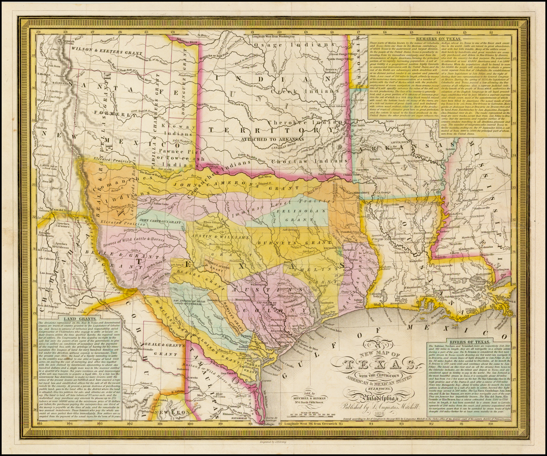 A New Map Of Texas With The Contiguous American Amp Mexican