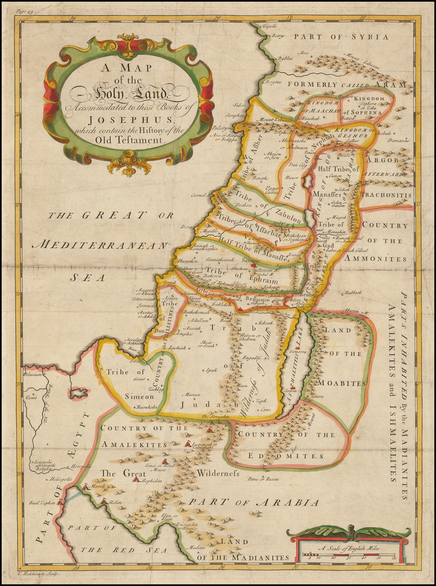 A Map Of The Holy Land Accommodated To Those Books Of
