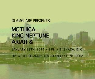 glamglare presents - Mothica, King Neptune, Ariah &