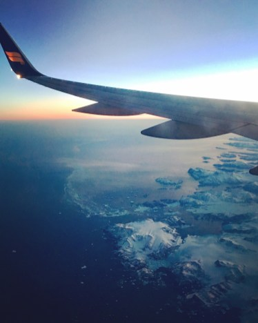 Iceland Air over Greenland