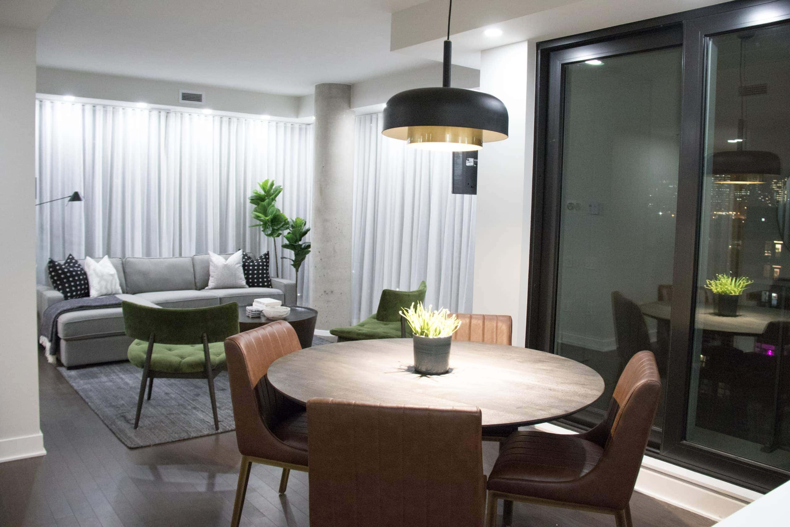 Small dinning room and living room open concept