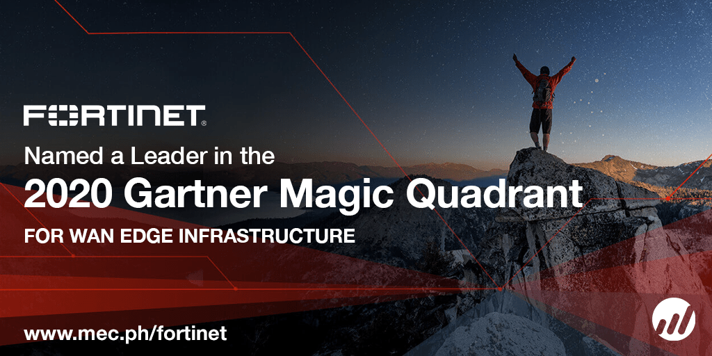 Fortinet Named as a Leader in Gartner's 2020 Magic Quadrant for WAN Edge Infrastructure