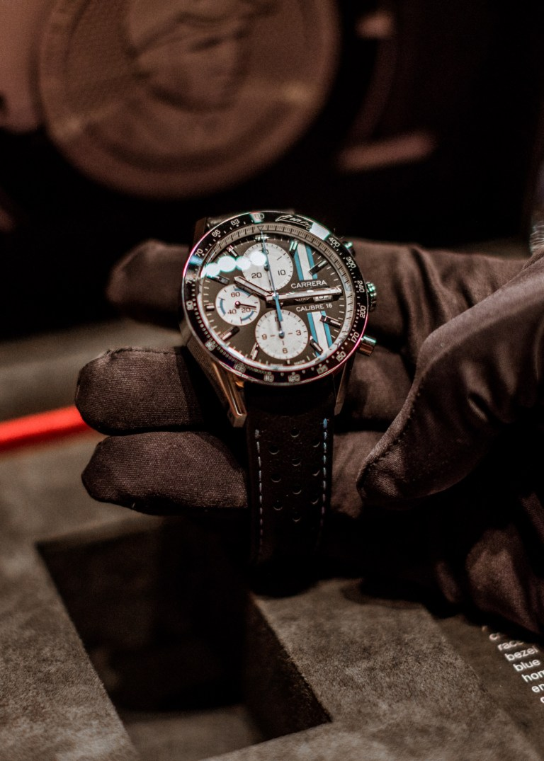 TAG Heuer Limited Edition Timepiece honoring Argentinian racing legend Juan Manuel Fangio