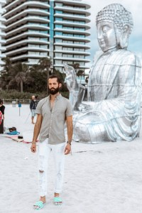 Michael Checkers Miami Street Style Blogger at Feana Hotel Art Week