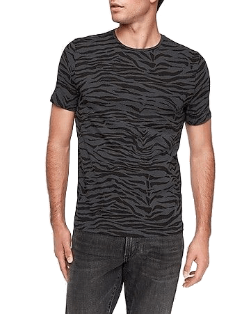 Express tiger print moisture-wicking performance t-shirt