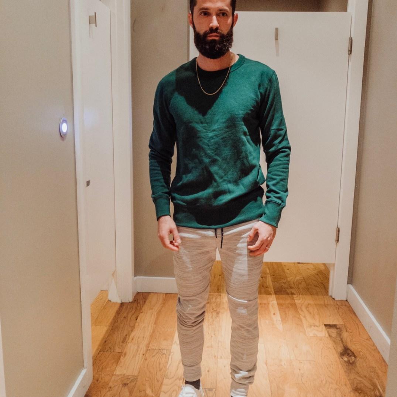 Emerald green sweat shirt from Express