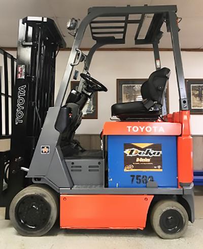 2012 Toyota 3000lb 4 Wheel Electric Forklift, Used - Forklift
