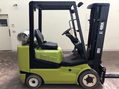 2000 Clark 5000lb 4 Wheel Electric Forklift, Used - Forklift Select
