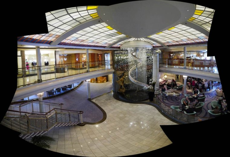 The central hallway of the Crystal Symphony