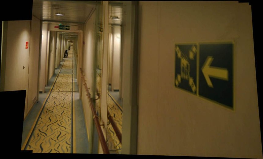 In the accomodation hallways of the Crystal Symphony