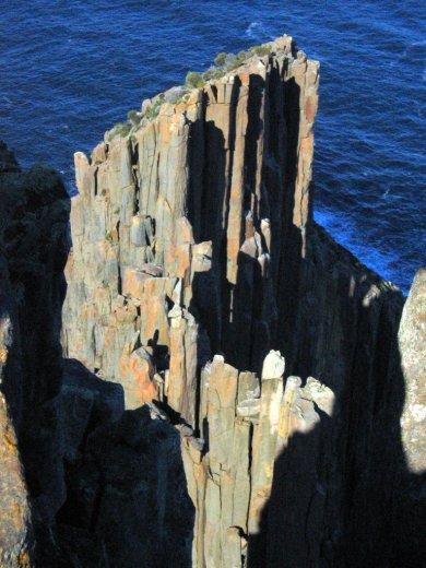 Dolerite pillars at Cape Raoul, Tasmania