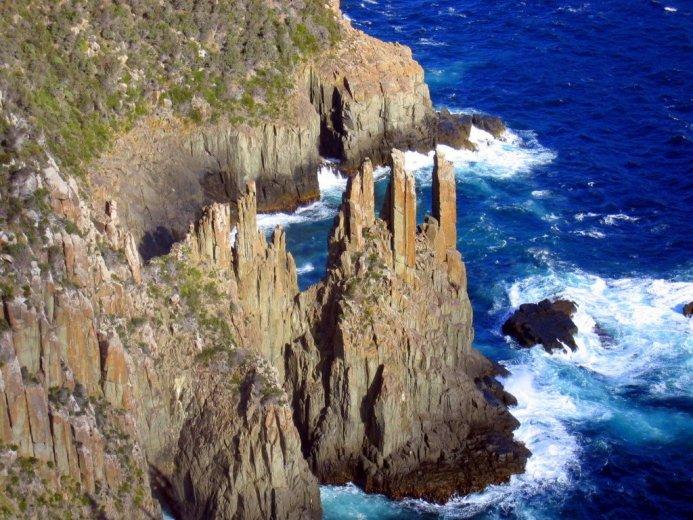 Dolerite spires at Cape Pillar, Tasmania